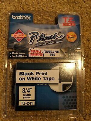 Brother P-touch Tz Tape Refills Tz-241 Label Fast Free Shipping Brand New
