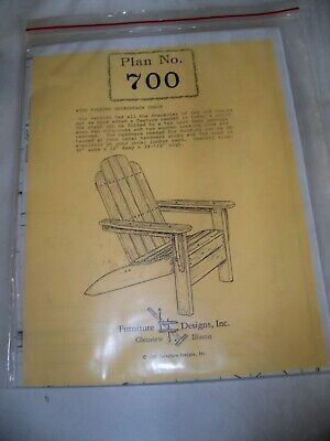 (S) Woodworking Project Paper Plan to Build Folding Adirondack Chair