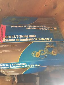 Brand new , 50 ft construction string lights ,