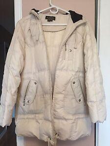 Novelty white winter jacket