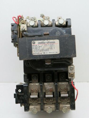 GE General Electric CR308E6**2PAAAAA Motor Starter 600VAC 90A NEMA 3, 120V Coi