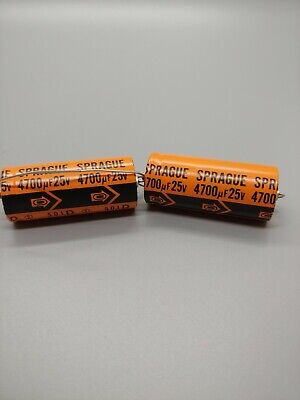 Nos - Sprague - 25v - Axialradial - Vintage Capacitors