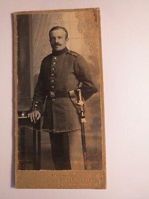 Holzkirchen - Gmund a. T. - stehender Soldat in Uniform - Kulisse / CDV