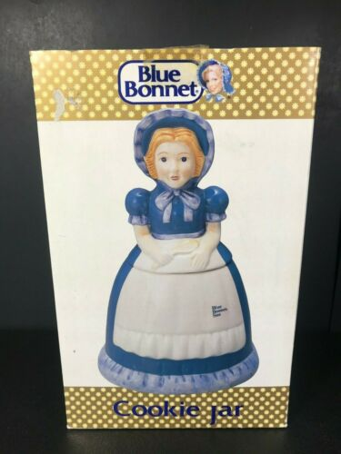 Blue Bonnet Sue Cookie Jar 1989 In Original Box by Benjamin & Medwin