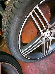 """Mercedes 22"""" tyres and rims"""