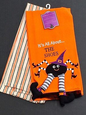 It's All About The Shoes Halloween Spider Cotton Kitchen Towels Set of 2 - About The Halloween