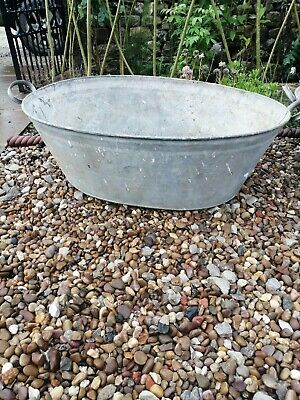 Tin bath planter Galvanised