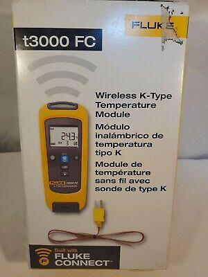 Fluke T3000 Fc Wireless K-type Temperature Module With Fluke Connect