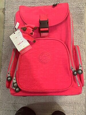 New With Tag KIPLING ALCATRAZ II BACKPACK WITH LAPTOP PROTECTION - VIBRANT PINK