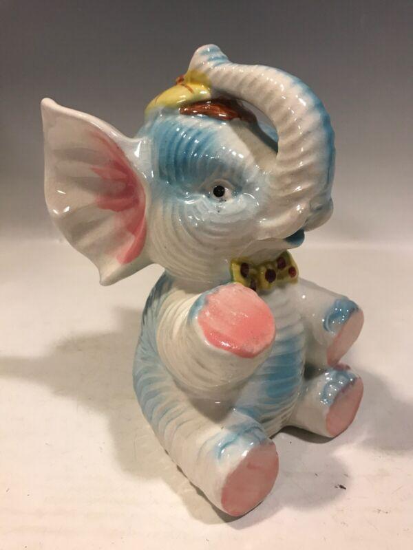 Childs Ceramic Elephant Coin Bank Vintage Japan