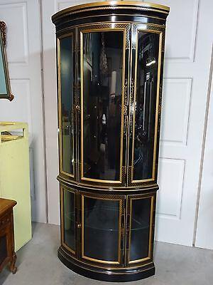 Vintage Drexel Heritage Et Cetera Hollywood Regency Chinoiserie Corner Cabinet