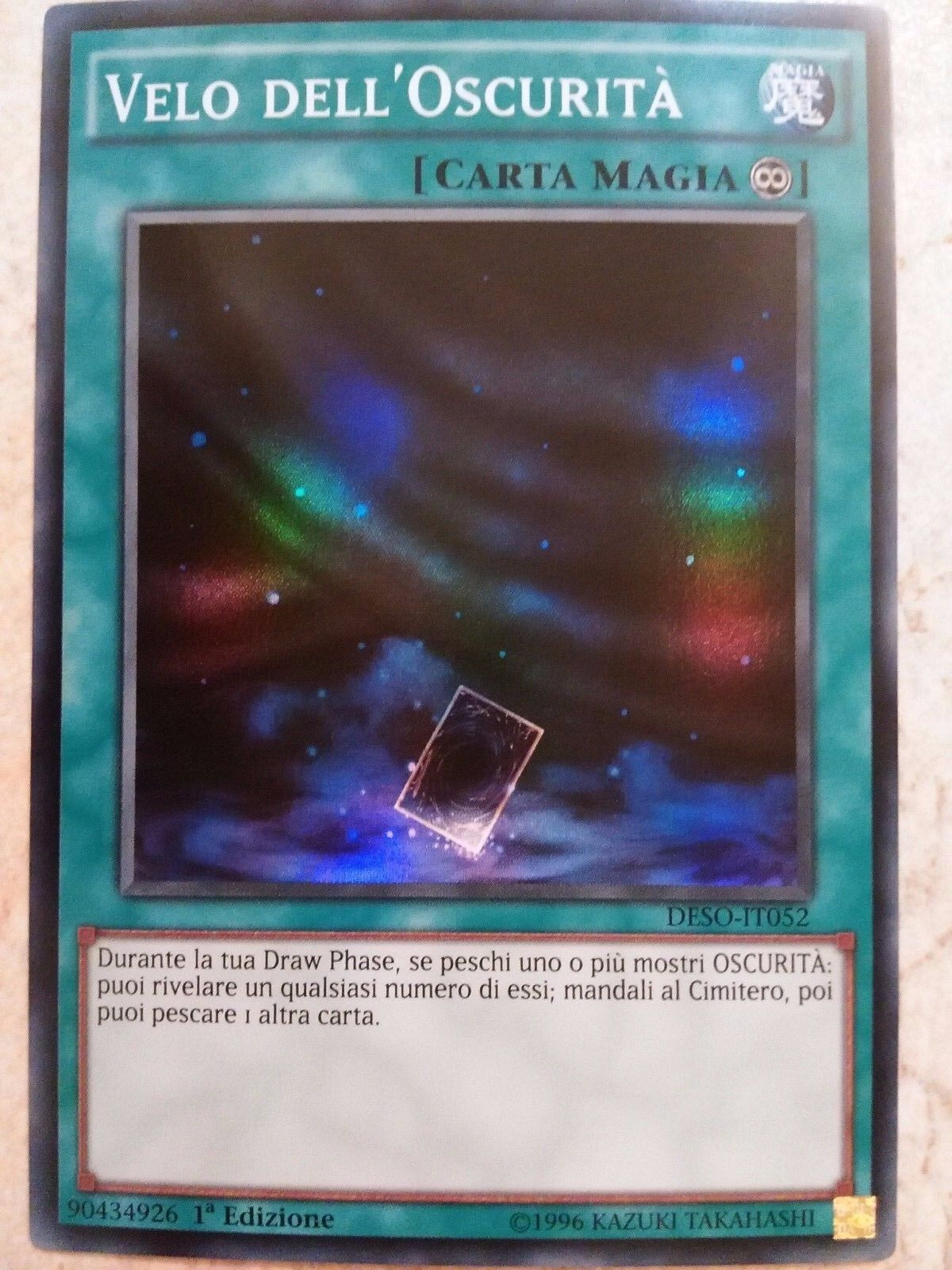 Velo dell'Oscurità DESO-IT052 MINT SUPER RARA  YUGIOH!