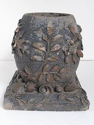 Antique Sewer Pipe End of Day Folk Art Vase