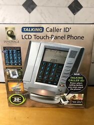 LCD Phone with Talking Caller ID Touch Panel Display Speaker Alarm Clock Lighted