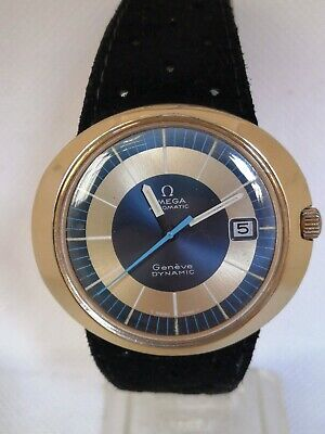 Vintage Omega Dynamic Geneve Automatic Men's Watch  Gold-Cap 41 MM Running