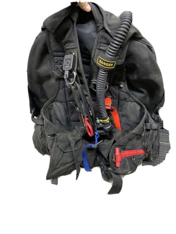 Zeagle Ranger Scuba Diving BC BCD w/ Rip Cord System X- LARGE Black