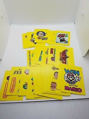 1989 Topps Nintendo Top Secret Tips Sticker Cards Complete Set Of 33 Mario Zelda