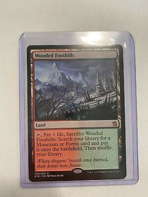 1x Wooded Foothills - Khans of Tarkir, English, Lightly Played, Red/Green Fetch