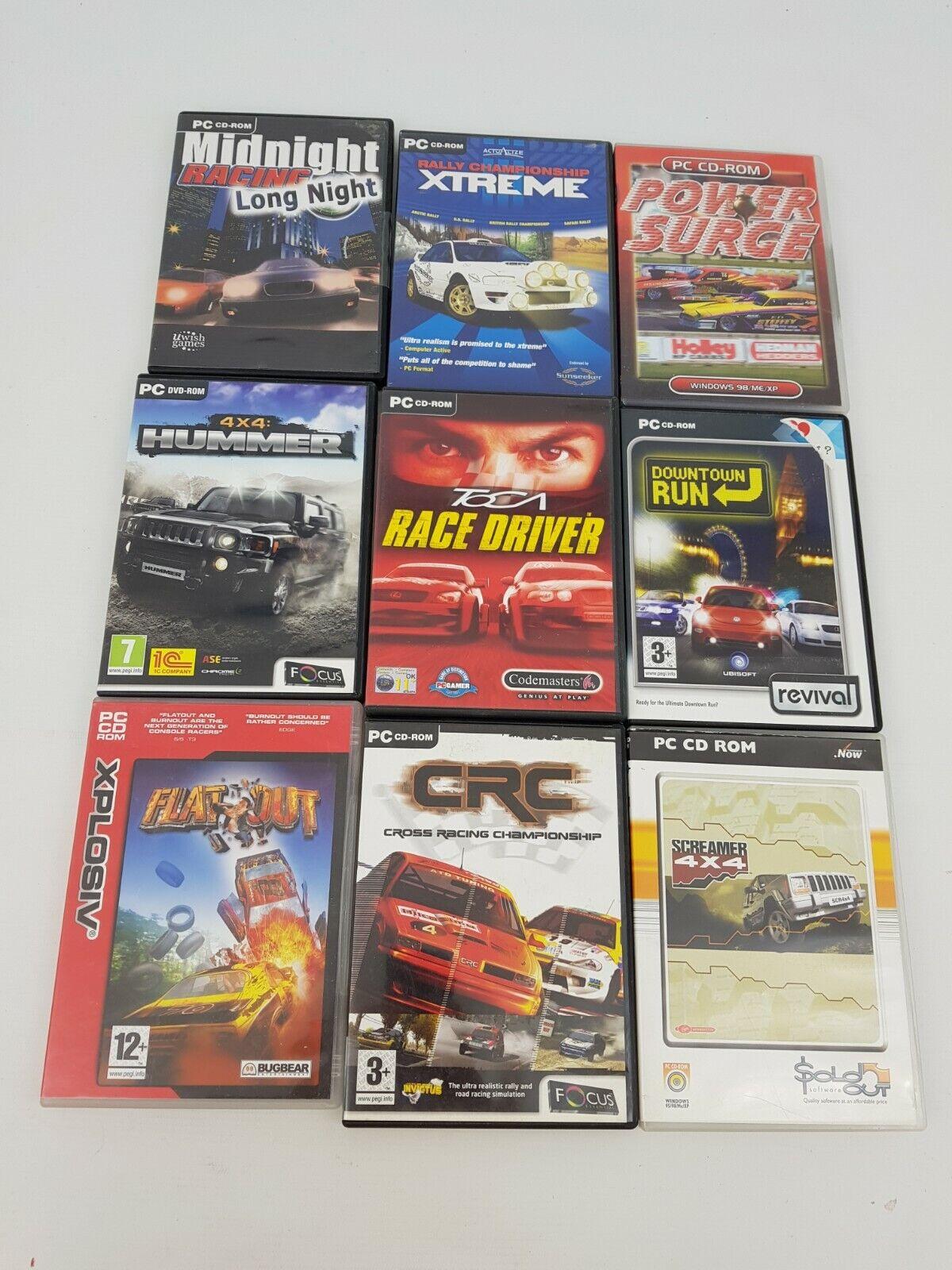 computer games joblot - Racing PC Computer Game Bundle Joblot Hummer Toca Flatout CRC Xtreme Midnight