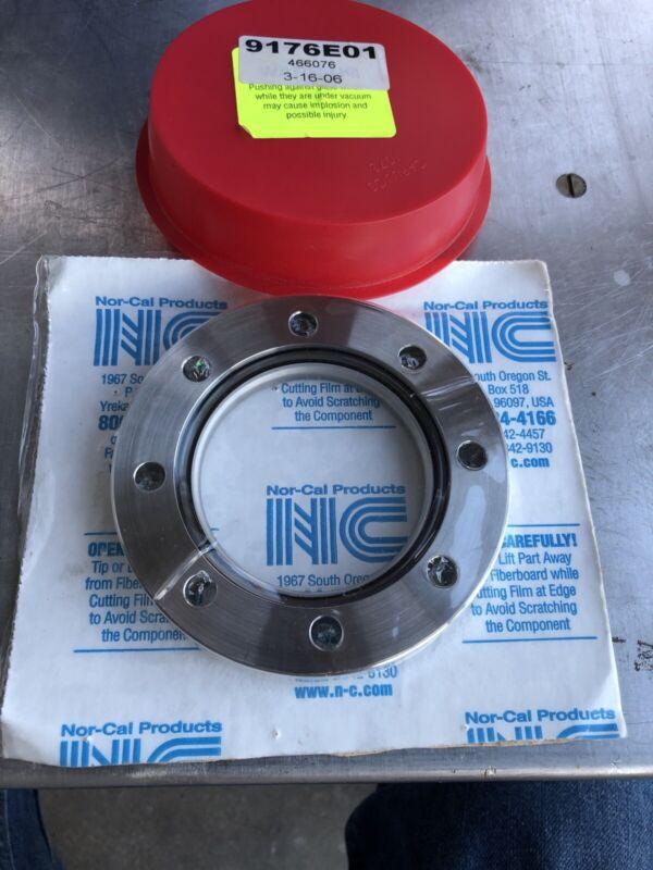 "NOR-CAL ZV-250, 4-1/2""-CF Flange Zero Length Vacuum Viewport Glass, New"