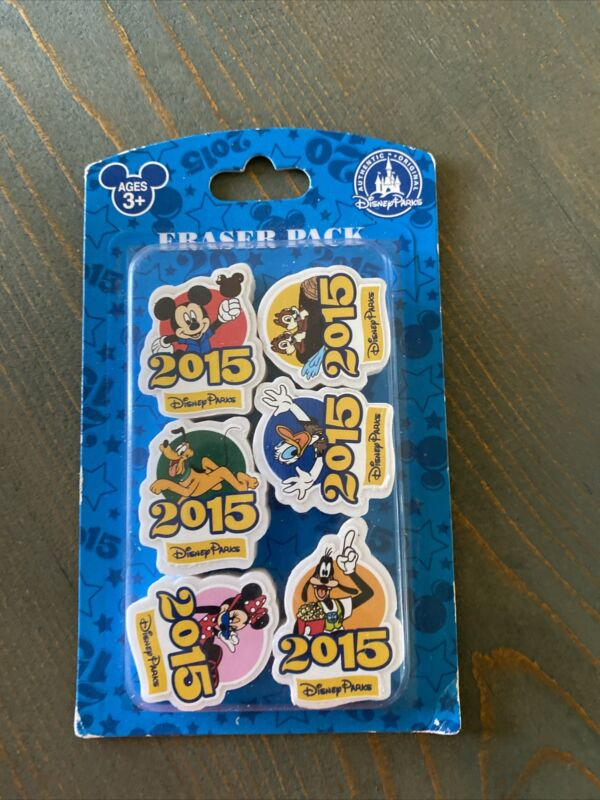 Disney Parks 2015 Mickey Mouse Friends Eraser Set Collector Pack