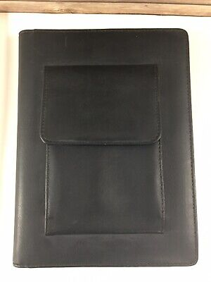 Day-timer Leather Planner Journal Organizer 177 Pg Black Meeting Notes 9 X 6.5
