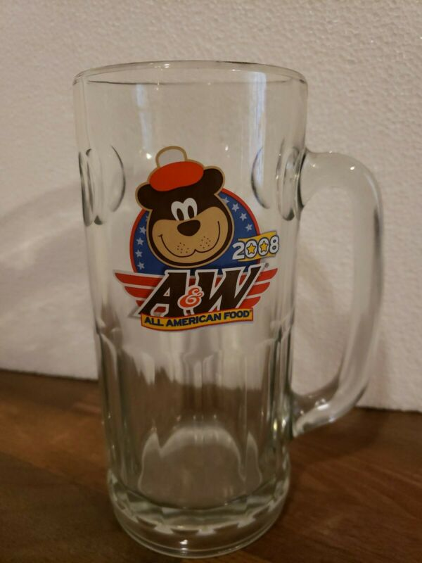 "A & W 2008 All American Food Souvenir Root Beer Glass Mug 7"" Tall"