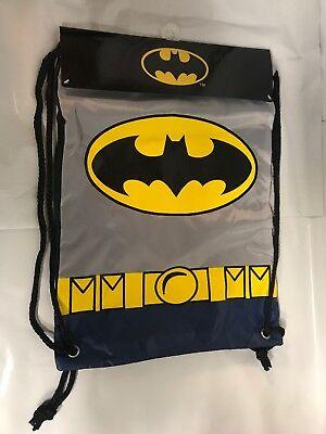 Batman Drawstring Bag Blue Batman Logos Backpack DC Comics Brand New ST208 $4.99](Batman Bag)