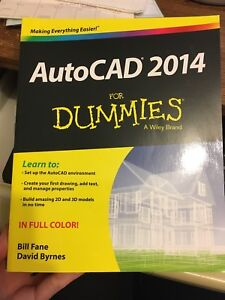 Auto CAD 2014 for dummies book $10