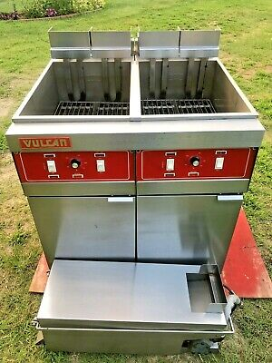 Vulcan Double Fryer Model 2erd50 480 Volts 3 Phase Filtration Xtra Clean