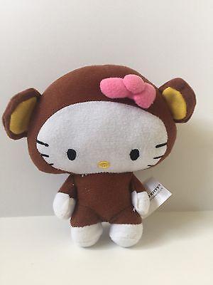 Hello Kitty Costume Head (HELLO KITTY SANRIO BIG HEAD MONKEY COSTUME BROWN PLUSH TOY)