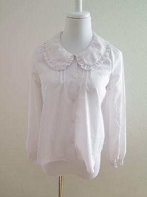 Ank Rouge white Blouses Lolita Hime Gyaru Kawaii Very Cute (b94)