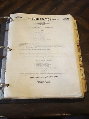 Ford Tractors Master Part Catalog 2000 3000 4000 5000 7000 And Sub Models