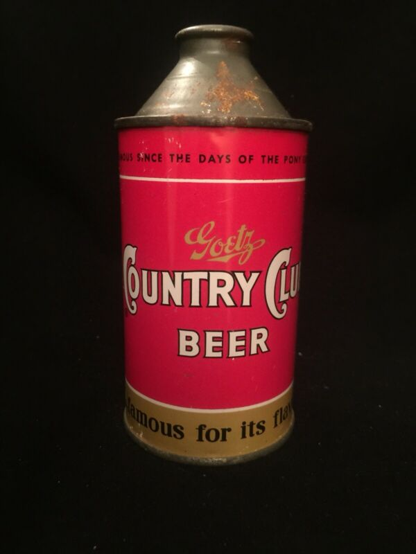 Goetz Cone Top Beer Can