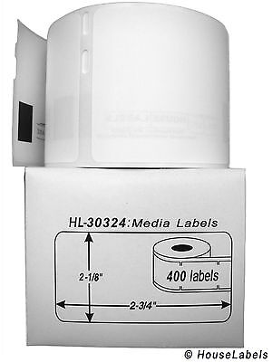6 Rolls Of 400 Mediabadge Labels In Cartons For Dymo Labelwriters 30324