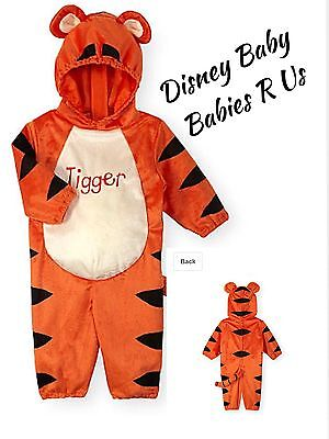 Tigger Costume Child (Disney Baby TIGGER Hooded Velour Halloween Costume Toddlers  6-9 M Or 9-12)