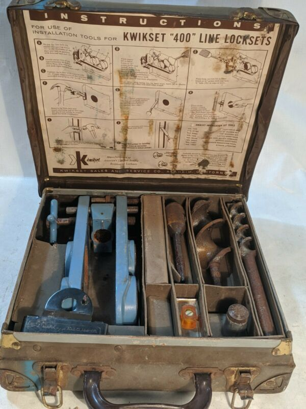 "Vintage Kwikset ""400"" Line Lockset Installation Kit"