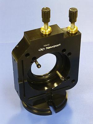 Newport Vgm-2 Gimbal Optical Mount 2 Diameter Vertical Drive Vgm-2ajs