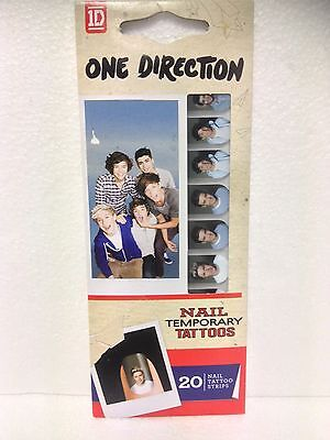 One Direction Temporary Nail Tattoos / 20 Nail Tattoo Strips -