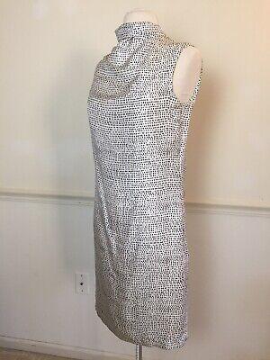 PORTS 1961 2-4 White & Black silk sheath dress sleeveless sexy open tie back