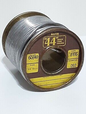 Vintage Kester 44 Resin Core Solder 4060 .092 Rosin Core 1lb Spool