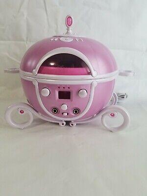 Disney Princess Cinderella Carriage Cd Player Sing Along Boombox Karaoke No Mics ()