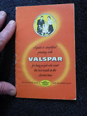 Old Valspar advertising booklet paint yacht varnish 1950s ?  nice adverts for sale  Shipping to Ireland