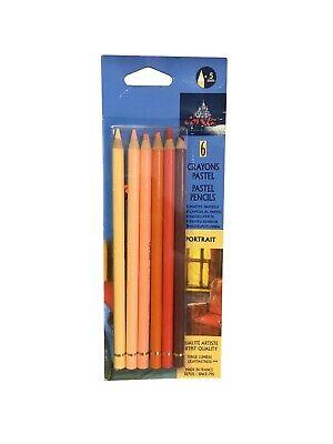 Conte Crayons Pastel Pencil Sketching Set of 6 *FREE SHIPPING* - Pencil Crayons
