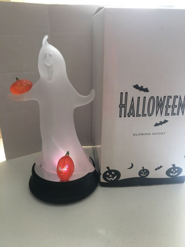"""Avon Glowing Halloween Ghost 12"""" Tall In Box, Color Changing"""