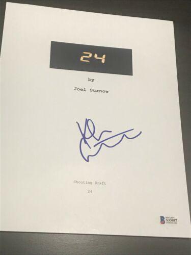 "KIEFER SUTHERLAND SIGNED AUTOGRAPH ""24"" SCRIPT TELEVISION BECKETT BAS COA AUTO D"