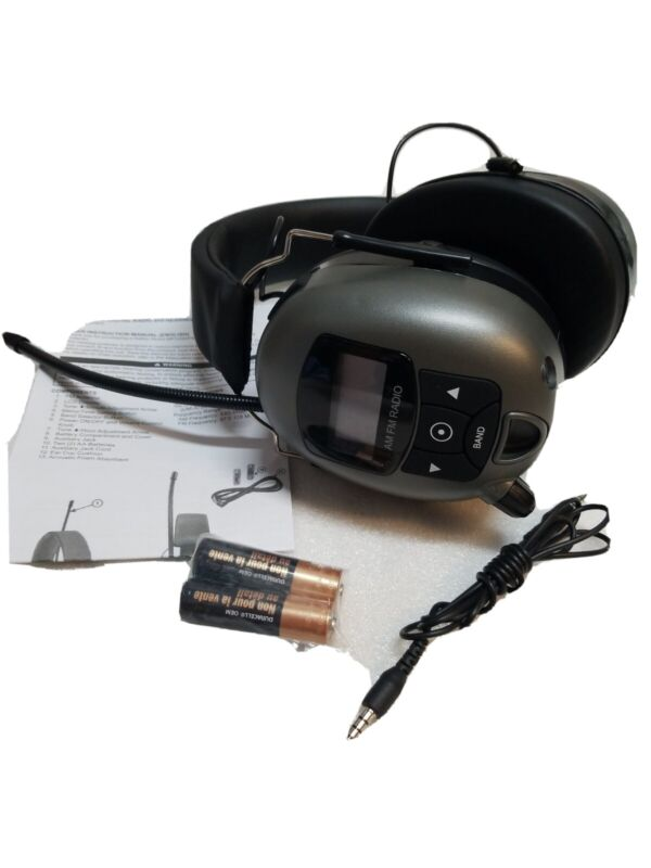 MP3/AM/FM Digital Radio & Hearing Protector Safety Earphones