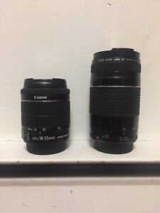 Canon 18-55 mm And Canon 70-300 mm Camera Lens