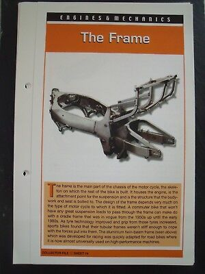 engine & mechanics THE FRAME collector file fact sheet.