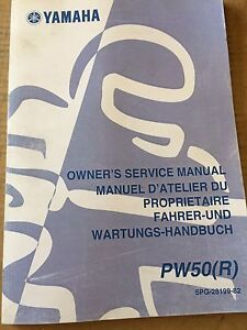 2002 Yamaha PW50 Owners Service Manual